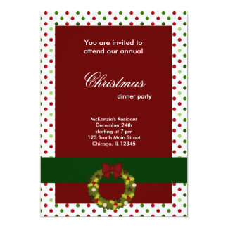Christmas Dinner dots Personalized Invite