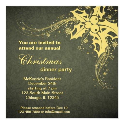 Christmas Dinner Custom Invites
