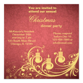 Christmas Dinner Personalized Announcements