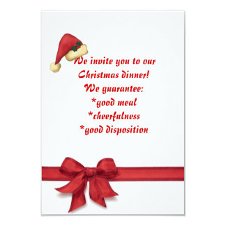 Christmas Dinner, Invitation