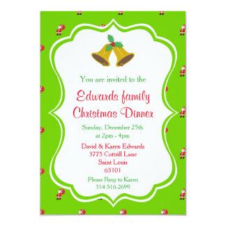 Christmas Dinner Invitations - Bells