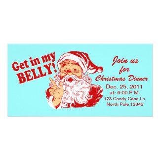 Christmas Dinner Invitations Photo Cards