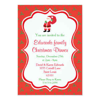 Christmas Dinner Invitations - Santa