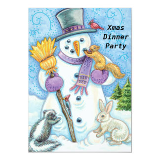 "Christmas Dinner Party 2 Invitation 5"" X 7"" Invitation Card"
