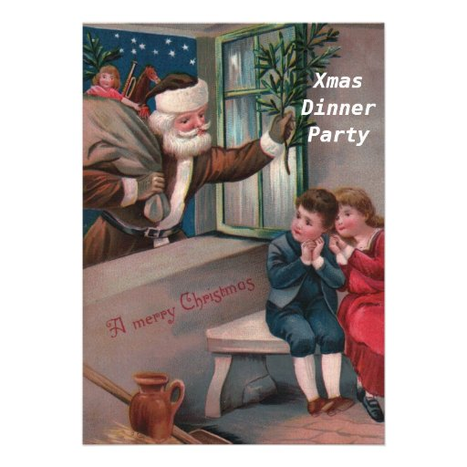 Christmas Dinner Party 2 Invitation Personalized Invites
