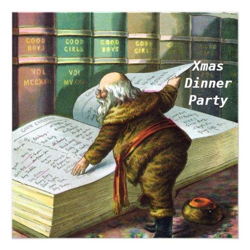 Christmas Dinner Party 5 Invitation Custom Invites