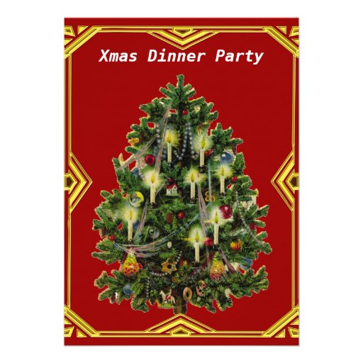 Christmas Dinner Party 7 Invitation Custom Invite