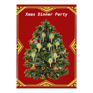 "Christmas Dinner Party 7 Invitation 5"" X 7"" Invitation Card"