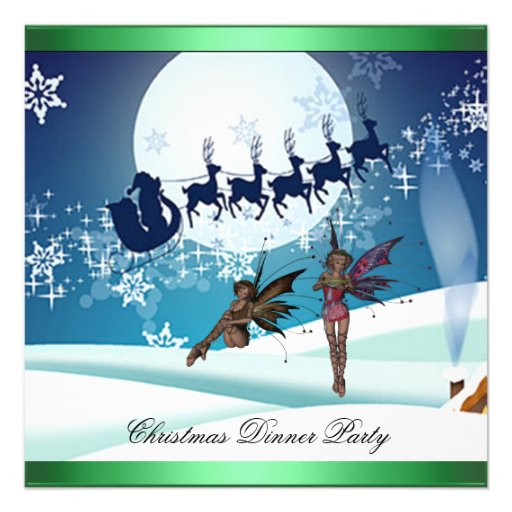 Christmas Dinner Party 8 Invitation Announcement
