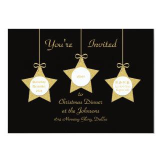 Christmas Dinner Party Invitation Christmas Stars
