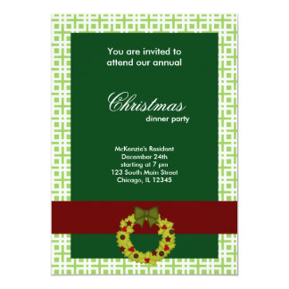 Christmas Dinner Squares Personalized Invitations