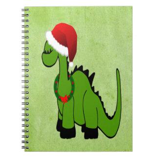 Christmas Dinosaur Spiral Notebook