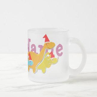 Christmas Dinosaurs Mug with Your Name