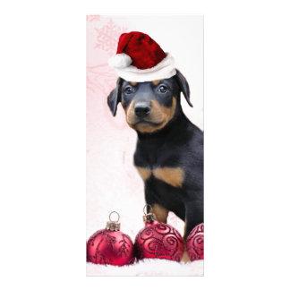 Christmas Doberman Pinscher puppy Custom Rack Cards