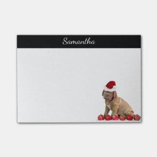 Christmas Dogue de Bordeaux post it notes
