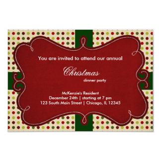 Christmas Dots 9 Cm X 13 Cm Invitation Card
