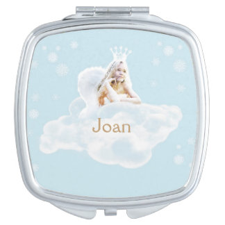 Christmas Dream Angel Square Compact Mirror