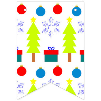 Christmas Dream Swallowtail Party Bunting Banner