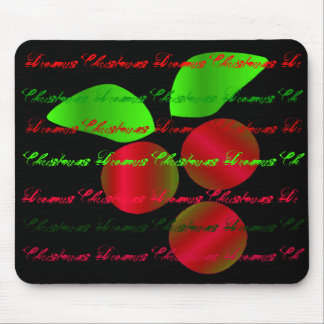 """""""Christmas Dreams"""" Red Holly - Customizable Mouse Mat"""