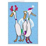 Christmas ducks greeting cards