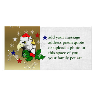 Christmas Eagle Customized Photo Card