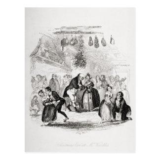 Christmas Eve at Mr. Wardle's Postcard