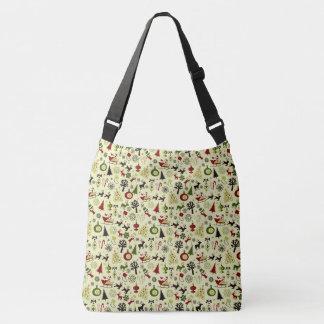 Christmas Eve Pattern Crossbody Bag