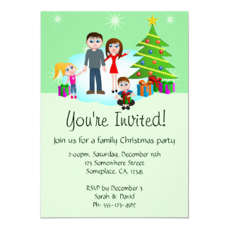 Christmas Family Party Invitations Invites
