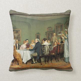 Christmas Feast Charles Green Painting Throw Cushions