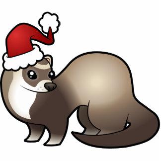 Christmas Ferret Ornament Cut Out