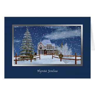 Christmas, Finnish, Hyvää Joulua Greeting Card