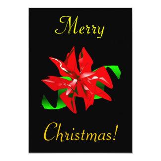 Christmas Flower 13 Cm X 18 Cm Invitation Card