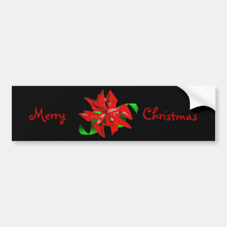Christmas Flower Red I Bumper Sticker Car Bumper Sticker