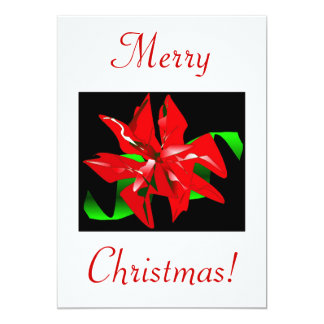 "Christmas Flower V 5"" X 7"" Invitation Card"