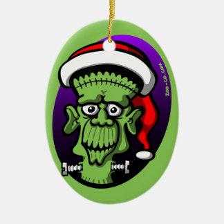 Christmas Frankenstein Ceramic Oval Decoration
