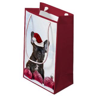 Christmas French Bulldog Gift Bag