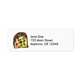 Christmas Fruitcake Return Address Labels
