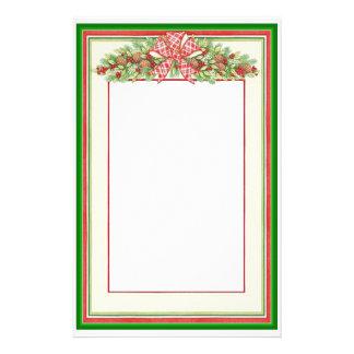 Christmas Garland Stationary Stationery Design