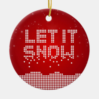Christmas Geek Let It Snow ornament