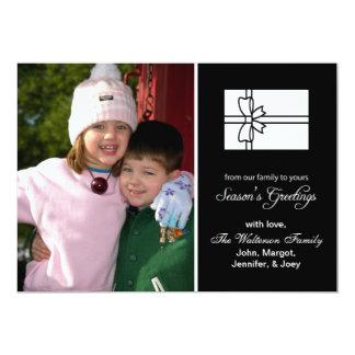 Christmas Gift Box Card (Season's Greetings Black)