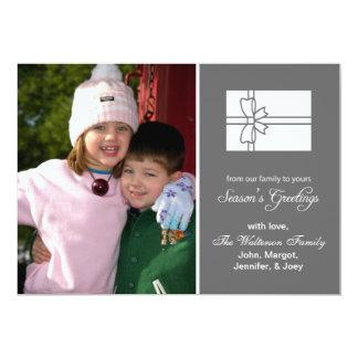 Christmas Gift Box Card (Season's Greetings Gray)
