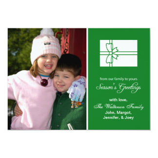 Christmas Gift Box Card (Season's Greetings Green)
