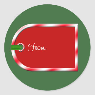 Christmas Gift Tag Holiday Design Envelope Seals Round Sticker