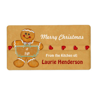 Christmas Gingerbread from the Kitchen of Labels