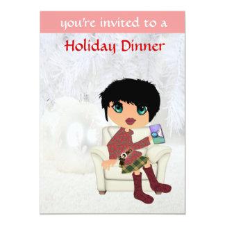 Christmas Girl Invitation Cards