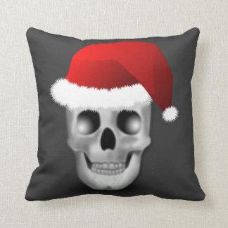 Christmas Goth Skull Santa Claus Cushion