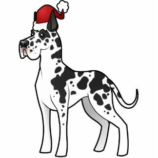 Christmas Great Dane Ornament Cut Out