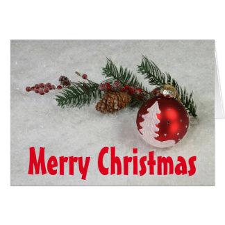 Christmas Greeting Card, Standard wte envl includ Card