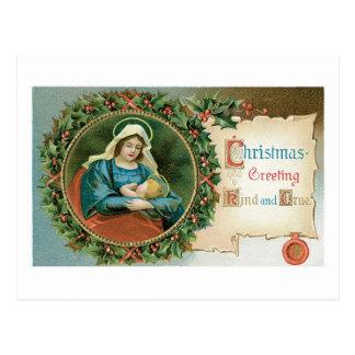 Christmas Greeting - Kind and True Postcard