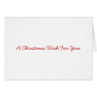 Christmas greetings card